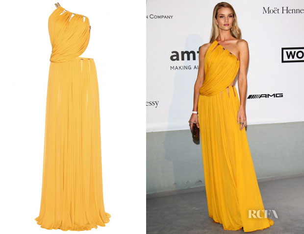 Rosie Huntington-Whiteley's Emilio Pucci Draped Gown