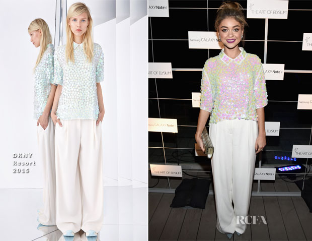 Sarah Hyland In DKNY - The Art of Elysium Pre-Event Dinner for HEAVEN 2015