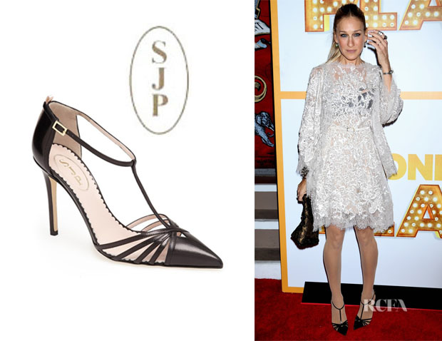 Sjp Carrie T-Strap Leather Pumps y7nQQO