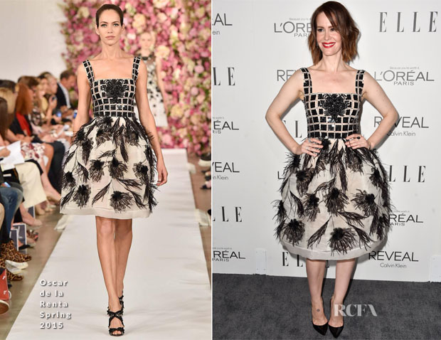 Sarah Paulson In Oscar de la Renta - Elle's 21st Annual Women In Hollywood Celebration