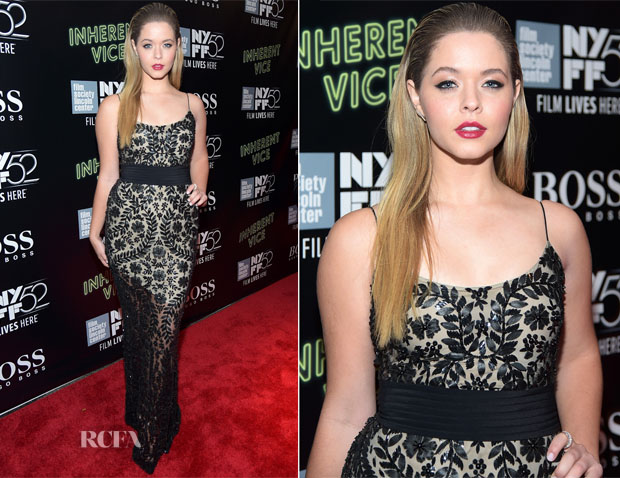 Sasha Pieterse In Naeem Khan - 'Inherent Vice' New York Film Festival Premiere