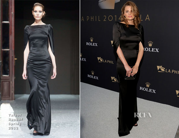Stana Katic In Talbot Runhof - Los Angeles Philharmonic's Walt Disney Concert Hall Opening Night Gala