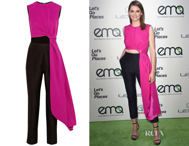 Stana Katic's Roksanda Colour-Block Jumpsuit