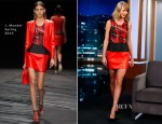 Taylor Swift In J Mendel - Jimmy Kimmel Live