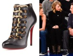 Taylor Swift's Christian Louboutin Leopard-Print Buckled Bootie