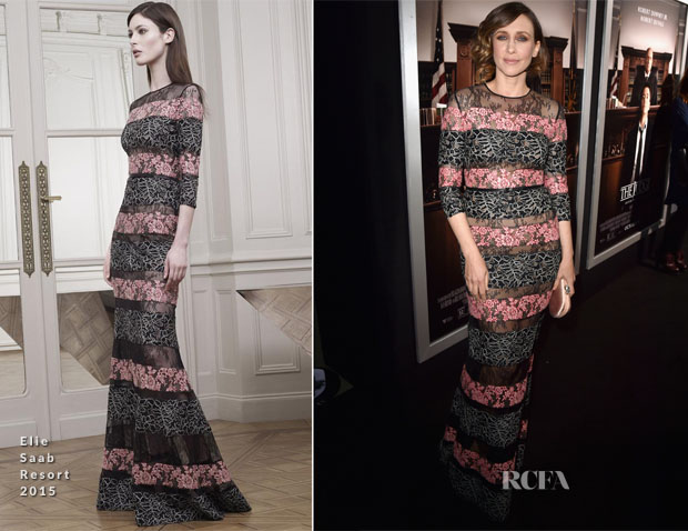 Vera Farmiga In Elie Saab - 'The Judge'  LA Premiere