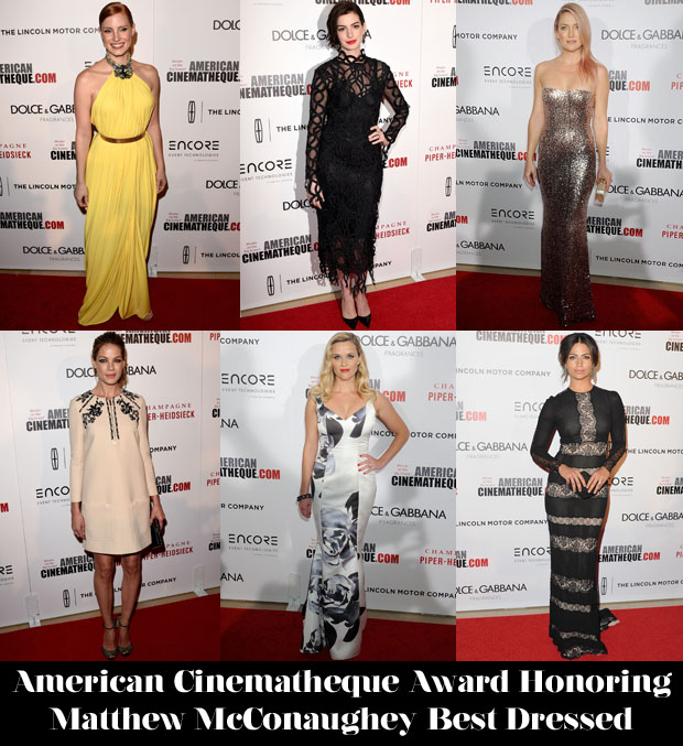 Who Was Your Best Dressed At The American Cinematheque Award Honoring Matthew McConaughey