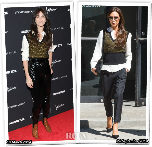 Who Wore Louis Vuitton Better Charlotte Gainsbourg or Victoria Beckham