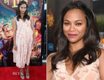 Zoe Saldana In Altuzarra - 'The Book Of Life' LA Premiere