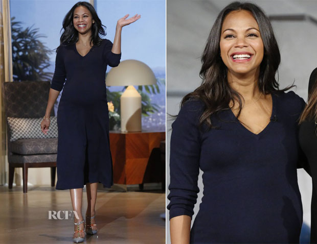 Zoe Saldana In Joie - The Queen Latifah Show