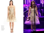Zooey Deschanel In Oscar de la Renta - The Tonight Show Starring Jimmy Fallon