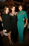 Lily Collins, Emily Blunt and Ashley Madekwe in Elie Saab