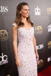 Hilary Swank in Nicholas Oakwell Couture