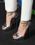 Bella Thorne's  Gucci Leila metallic sandals