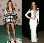 Alessandra Ambrosio In Balmain & Azzaro Couture - 2014 Latin Grammy Awards