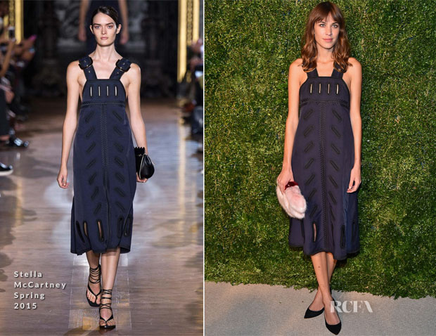 Alexa Chung In Stella McCartney - 2014 CFDA Vogue Fashion Fund Awards