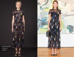 Alexa Chung In Valentino - Valentino Garavani's 'Valentino: At the Emperor's Table' Book Launch Dinner Party