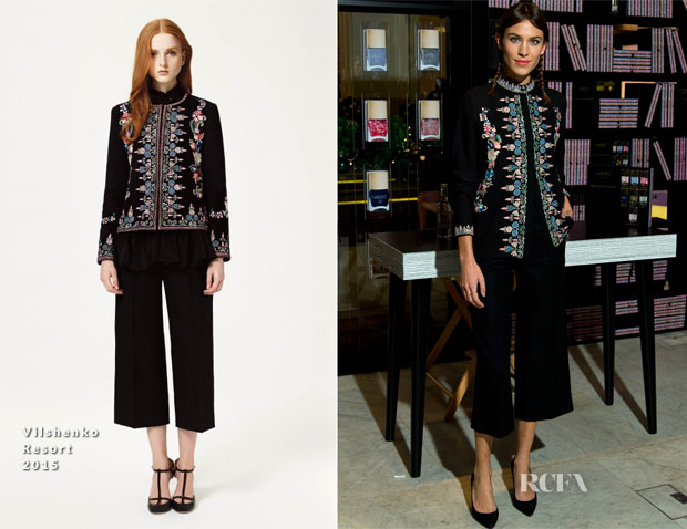 Alexa Chung In Vilshenko -  Nails Inc The Alexa Editions Launch