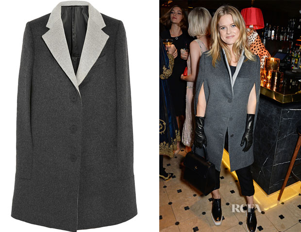 Alice Eve's Richard Nicoll Brushed wool and angora-blend cape