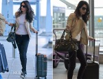 Amal Alamuddin Clooney In Alexander McQueen – London Heathrow Airport