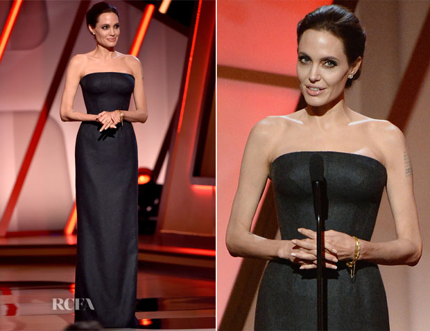 Angelina Jolie In Atelier Versace - 2014 Hollywood Film Awards