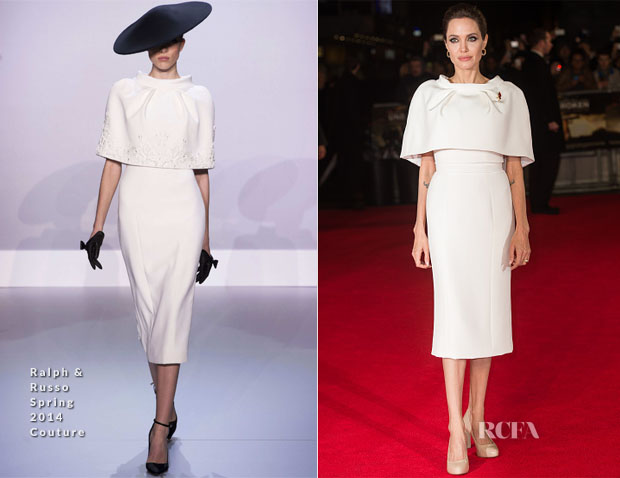 Angelina Jolie In Ralph & Russo Couture - 'Unbroken' London Premiere
