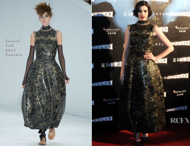 Anne Hathaway In Chanel Couture - 'Interstellar' Shanghai Premiere