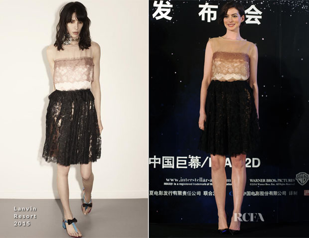 Anne Hathaway In Lanvin - 'Interstellar' Shanghai Press Conference