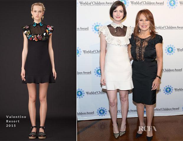 Anne Hathaway In Valentino - 2014 World Of Children Awards