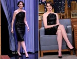 Anne Hathaway In Vivienne Westwood - The Tonight Show Starring Jimmy Fallon