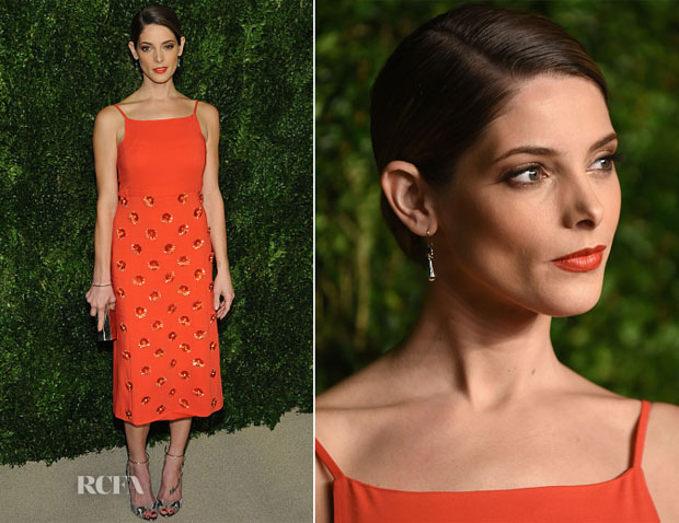 Ashley Greene In Peter Som - 2014 CFDAVogue Fashion Fund Awards