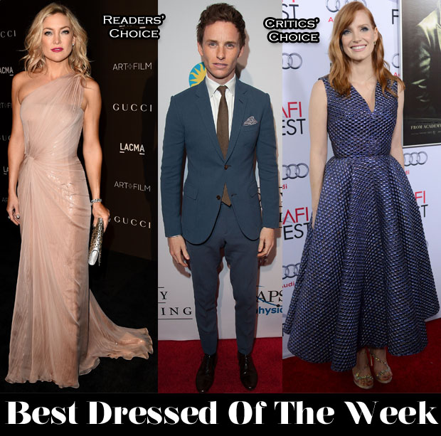 Best Dressed Of The Week - Kate Hudson In Gucci Première, Jessica Chastain In Roksanda &  Eddie Redmayne in Gucci