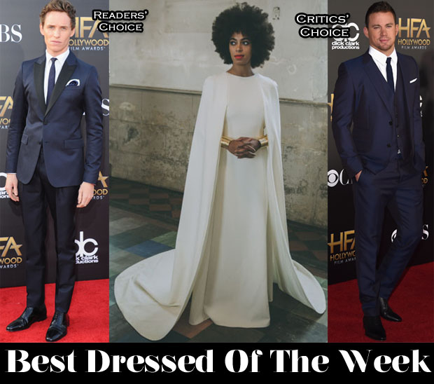 Best Dressed Of The Week - Solange Knowles In Humberto Leon for Kenzo, Eddie Redmayne In Alexander McQueen and Channing Tatum In Gucci