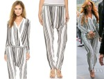 Beyonce Knowles' Torn by Ronny Kobo Striped Imani Blouse & Shirly Pants