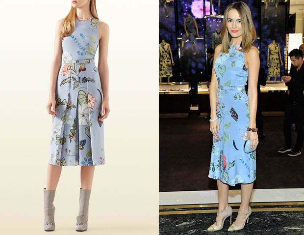 Camilla Belle's Gucci Floral Dress