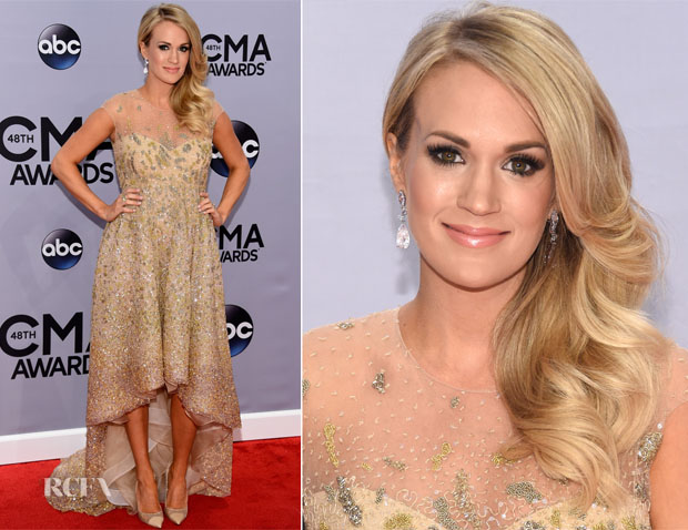 Carrie Underwood In Lorena Sarbu - 2014 CMA Awards
