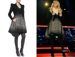 Carrie Underwood's Alice + Olivia Carth Puff Shoulder Flare Coat