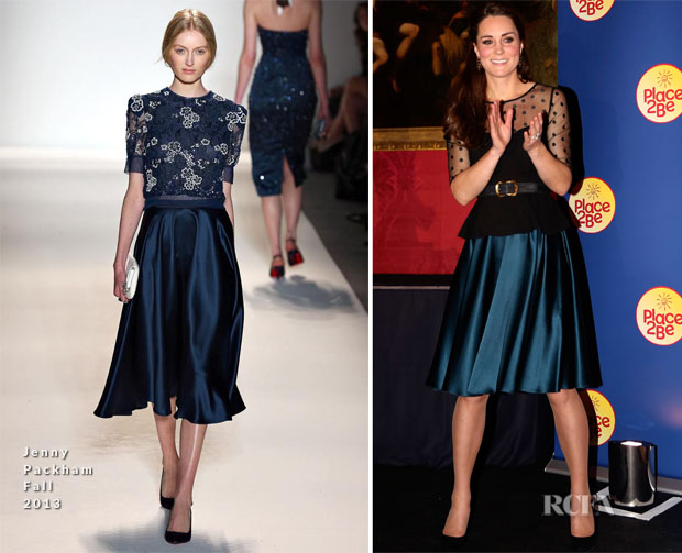 Catherine, Duchess of Cambridge In Jenny Packham - The Place2Be Wellbeing Schools Awards Reception