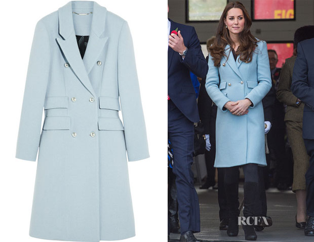 Catherine, Duchess of Cambridge's Matthew Williamson Blue Wool-Blend Coat