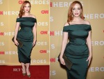 Christina Hendricks In Zac Posen - 2014 CNN Heroes: An All Star Tribute