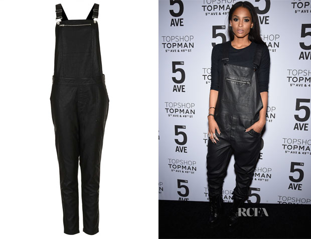 Ciara's Topshop Leather Look Dungrees