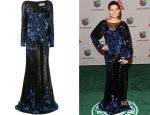 Cristal Marie's Badgley Mischka Sequin Gown