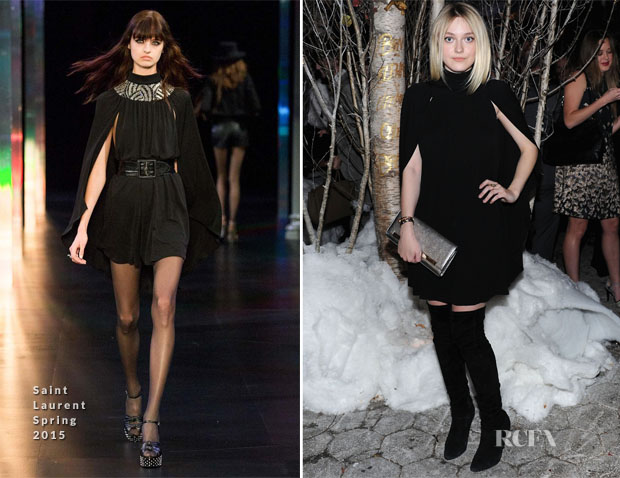 Dakota Fanning In Saint Laurent - Barneys New York 'Baz Dazzled' Holiday Window Unveiling Dinner