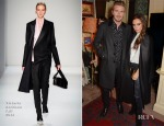 David Beckham In Saint Laurent & Victoria Beckham In Victoria Beckham - Another Man Magazine Party