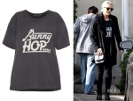 Dianna Agron's Marc by Marc Jacobs Bunny Hop cotton T-shirt