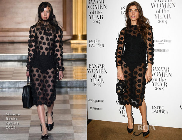Elisa Sednaoui In Simone Rocha - Harper's Bazaar Women of the Year Awards