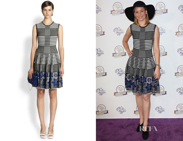 Elizabeth Banks' Alexander McQueen Pow Floral-Detail Knit Dress