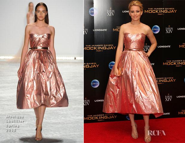 Elizabeth Banks In Monique Lhuillier - 'The Hunger Games Mockingjay – Part 1′ After-Party