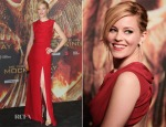 Elizabeth Banks In Saint Laurent - 'The Hunger Games: Mockingjay – Part 1′ Berlin Press Event