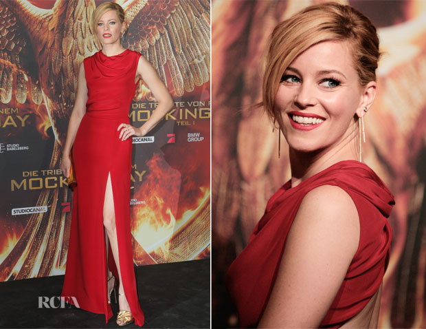 Elizabeth Banks In Saint Laurent - 'The Hunger Games Mockingjay – Part 1′ Berlin Press Event